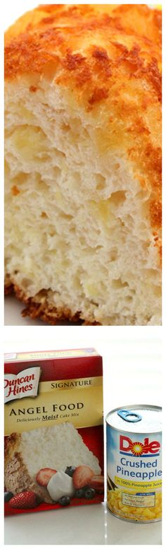 2 Ingredient Pineapple Cake ~ Just two ingredients and you can have an awesome perfect for summer time picnic dessert.