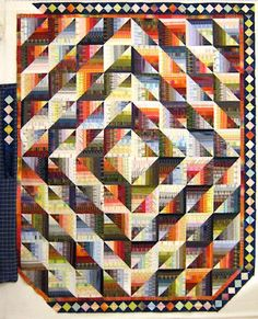 self mitered.log cabin quilt | Self Mitered Log Cabin