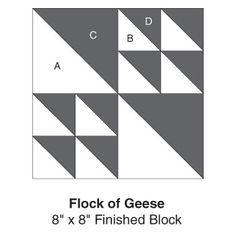 Flock of Geese, part of Quilter's World's FREE Quilt Block of the Month. Get the download here: http://www.quiltersworld.com/Quilt_Block/?id=32