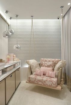If You Are Looking For the Best Kitchen Design Ideas in 2020 Kids Bedroom, Bedroom Decor, Swing In Bedroom, Bedroom Seating, Bedroom Small, Girl Bedrooms, Room Swing, Decor Room, Trendy Bedroom