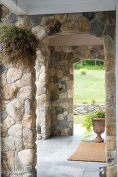 Boston Blend Round Thin Veneer - Work by: Sterling Masonry Stone Columns, Rustic Stone, Stone Veneer, 3d Wall, Pavilion, Gazebo, Photo Galleries, Outdoor Structures, Exterior