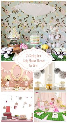 25 Springtime Baby Shower Themes for Girls ! (enchanted books)