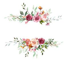 Vintage Card, Watercolor wedding invitation design with pink rose, bud and leaves. wild flower, background with floral elements for text, watercolor background. frame - Buy this stock illustration and explore similar illustrations at Adobe Stock
