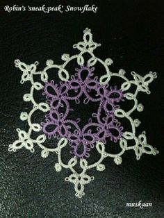 Isis Snowflake designed by Robin, with free tatting pattern