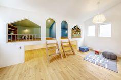 2018年 SIMPLE`S モデルハウス | 注文住宅 家 広島 工務店 オールハウス Play Houses, Corner Desk, Kids Room, House Design, Living Room, Space, Architecture, Interior, Cozy
