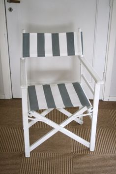 Directors chair recover!  I have 2 of these sitting in my storage room.  Thinking I should do this to them.