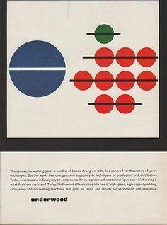 p-e-a-c: designer unknown, 1962 Underwood Abacus Adding...