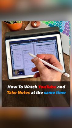 Study Tips, Study Hacks, Note Taking, Time Management, Ipad Mini, Notes, Apple, How To Plan, Youtube