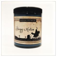 Sleepy Hollow autumn, pumpkin apple smoky scented soy candle 6 oz: unique candle gift idea. By WitchCityWicks!