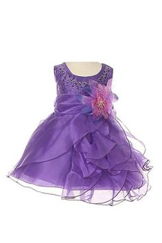 Cinderella Couture Baby Girls' Cascading Organza Dress Purple Lg 18M (B1101) *** Learn more by visiting the image link.