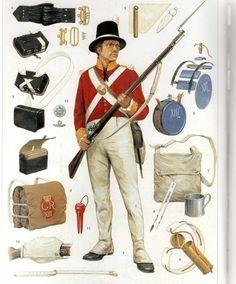 Ce soldat porte l'uniforme d'un confort surprenant que les troupes étaient autorisées à porter pendant leur services aux Antilles à partir de 1790.  bouton du régiment (13th Foot).