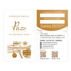 Paz_Introduce Card   Beauty salon graphic design ideas   Follow us on https://www.facebook.com/TracksGroup    美容室 ご紹介カード カード デザイン ヘアサロン