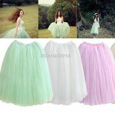 Wholesale Skirt - Buy Custom Made Elastic Waist Tea Length Tulle Skirt, $37.5 | DHgate