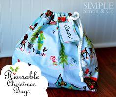 xmas simple drawstring pdf-L   A Handmade Christmas: Reusable Christmas Bags - Simple Simon and Company