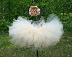 Creamsicle Vintage Inspired Newborn Toddler Sewn Tutu Super Fluffy Tutu. $25.00, via Etsy.