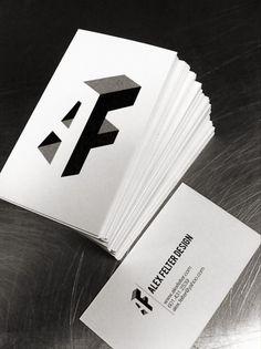 Alex Felter - Business Card Design Inspiration | Card Nerd