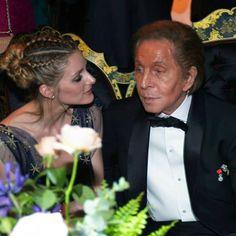 Olivia Palermo and Valentino Garavani attend the La Traviata opening gala at the Rome Opera House on May 22, 2016 #ValentinoLaTraviata