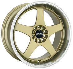 XXR Wheels 962 - 19 inch 19x9.5 Gold Rims with Machined Lip