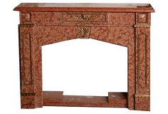 Italian Marble Fireplace Mantel x x - Living Room Fireplace in Cape Cod House Victorian Fireplace Mantels, Marble Fireplace Mantel, Marble Fireplaces, Mantles, Italian Marble, Pink Marble, Living Room With Fireplace, Vintage Italian, Old Houses