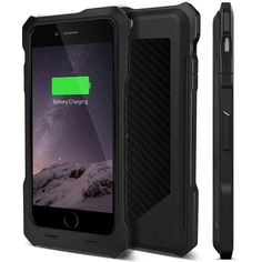 iPhone 6 Case (50% OFF Introductory Offer!) iPhone 6 Battery Case (50% OFF Introductory Offer!) iPhone 6 Battery Case, [MFi Certified] Alpatronix BX150 Ultra-Slim Protective Extended iPhone 6 Charging Case with Removable / Rechargeable Rugged Case [Fits all versions of the Apple iPhone 6 / 3500mAh Battery Pack / Full iOS 8 Compatible Support / No Signal Reduction / Apple MFi Certified / 4.7 Inch-Model Only] – (Black w/ Black Carbon Fiber Back)