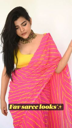 Indian Fashion Dresses, Dress Indian Style, Indian Designer Outfits, Hijab Fashion, Saree Wearing Styles, Saree Styles, Neat Casual Outfits, Looks Party, Saree Poses