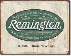 Remington Vintage Looking TIn Sign