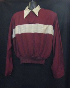 Festive Men's Vintage 1940s 1950s 2 TONE Rayon Gaucho Shirt