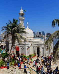 Haji Ali Dargah in Mumbai, one of the city's popular attractions. Vacation Places, Vacation Destinations, Vacation Spots, Vacation Trips, Places To Travel, Places To Visit, Rishikesh, Varanasi, Agra