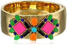 "kate spade new york ""Metropolis Mosaic"" Multi-Hinge Bangle Bracelet. Items that are handmade may vary in size, shape and color. Made in China."