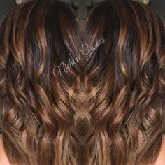 Mocha Latte with a caramel drizzle! ☕️☕️☕️☕️☕️☕️ Dimensional chocolate base, melting into a warm caramel with honey ends.  Now I'm hungry!  #modernsalon #colormelt #chocolatehair #balayage #dimensionalcolor #hairstylist #colorist #delicioushair #mochahair #caramelhair #sdhair #sandiego #nicholedoeshair #behindthechair #coloroftheday #instahair #ochair #getswanked #theswankstudio #greathair