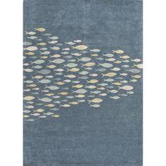 Kennedy Blue & Gray Wool Hand-Tufted Indoor/Outdoor Rug