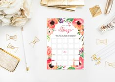 A personal favorite from my Etsy shop https://www.etsy.com/listing/230114857/printable-tropical-floral-bridal-shower