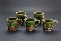 織部刻文マグカップ Mug with engraved, Oribe type 2012