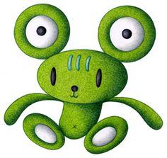 Teddy bear cartoon character - Frog teddy bear