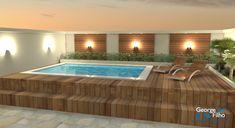 Piscina Interior, Spa Interior, Spas, Building A Floating Deck, Small Pool Design, Swiming Pool, Modern Garden Design, Backyard Patio Designs, Dream House Exterior