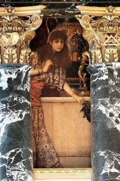 """""""Grecia Antigua I"""", G. Klimt, 1890-91, escaleras del KHM de Viena"""