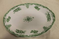Antique English Platter circa. 1895-1901 Rare Pitcairns Tunstall Blemton Green 16in Antique Home Living Kitchen Dining Platter Entertaining