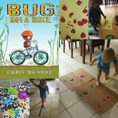 Bug on a Bike activities for preschool and prek. Bug Activities, Toddler Activities, Bugs, Preschool, Bicycle, Kids Rugs, Toddlers, Kids, Preschools