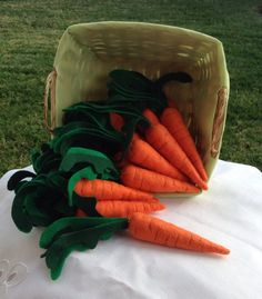 4 Felt Carrots Felt Food Vegetables Farmers by FeltFoodFrenzy on etsy