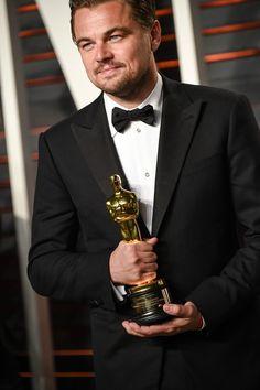 Leonardo DiCaprio inside the #VFOscarParty