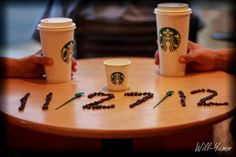 Why I never thought of this, was a partner through both pregnancies. Baby Announcement #Starbucks #Coffee #Cute