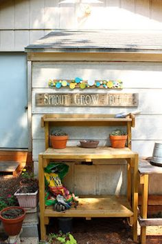 Love and Projects - Potting Bench
