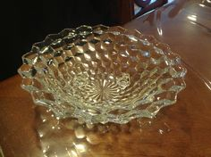 Fostoria Three Footed Bowl, Early American Pattern Glass EAPG  clearance by VintageLoveAntiques on Etsy https://www.etsy.com/listing/124515279/fostoria-three-footed-bowl-early