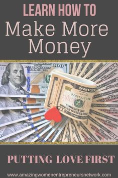 Did you know their is a direct correlation between the more you love the more you profit. Keep reading to learn more. Make More Money, Make Money Online, Creating Passive Income, Business Opportunities, Business Ideas, Starting Your Own Business, Work From Home Moms, My Job, Amazing Women