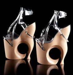 omar perez's sculptural heels have been worn by famous clients including lady gaga