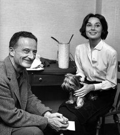 Audrey with Fred Zinnemann during the filming of 'The Nun's Story' (1959)