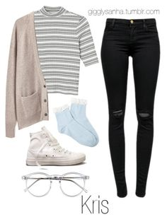 """""""Sweater Weather // Kris"""" by suga-infires ❤ liked on Polyvore featuring Forever 21, Monki, J Brand, La Garçonne Moderne, Converse and Wildfox"""