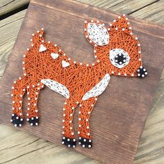 Made to order 4 Woodland Animals String art String by GrizzlyandCo