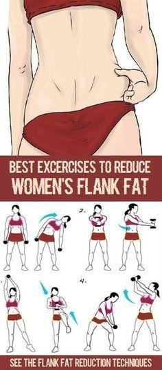 8 Simple & Effective Exercises To Reduce Flank Fat #Ejercicios #Salud #Deporte #Entrenamiento