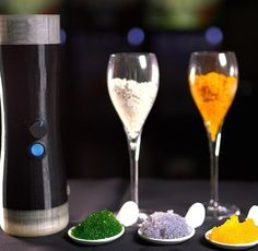 The world's only automatic caviar & pearl making device for the chef and foodie in you. You are limited only by your imagination!